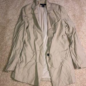 H&M - tan long blazer NWOT